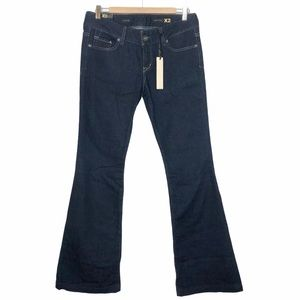 Express X2 Fit and Flare Jeans Dark Wash Size 8
